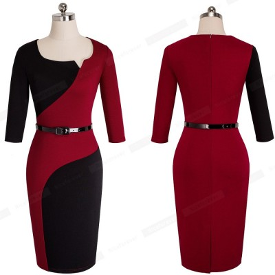 O-Neck Tunic Bodycon Women Office NR