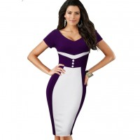Bodycon Office Pencil Sheath Dress NR