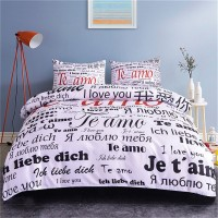 100 Language I Love You Bedding Set ZN