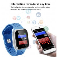 300 mAh Battery Single Touch Smart Watch TC