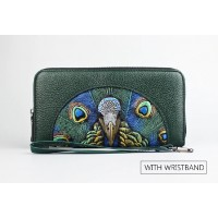 3D Embossing Ladies Genuine Leather Wallet Women Fashion AY