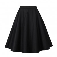 A Line Midi Floral Retro Skirt High Waist (10) TL