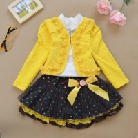 Autumn Flower Girls Clothing Sets Full Sleeve 1 EF