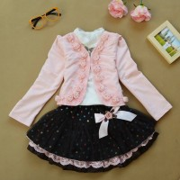 Autumn Flower Girls Clothing Sets Full Sleeve 2 EF