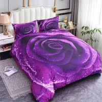 Bedding Set Purple Rose Duvet ZN