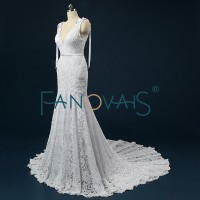 Bohemian Wedding Dress Mermaid V-neckline trouwjurken IB