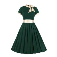 Bow Tie Neck High Waist Vintage TL