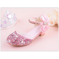 Bowknot High-heeled Shoes Girls Party CD