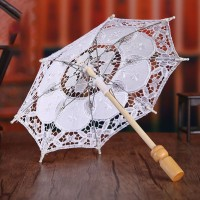 Bridal Parasol Umbrella Hollow Out Embroidery PS