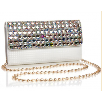 Bridal diamond beaded clutch bag evening MA