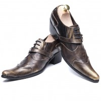 British Style Genuine Leather Formal Men Shoes E3