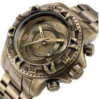 Bronzed Style Stainless Steel Luxury Men Watch TE