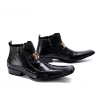 Business Men Boots Black Genuine Leather E3