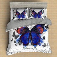 Butterfly Printed Bedding Set Animal 3 ZN