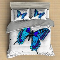 Butterfly Printed Bedding Set Animal 4 ZN