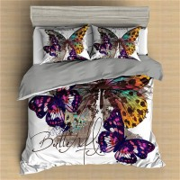 Butterfly Printed Bedding Set Animal 6 ZN