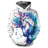 Cartoon Hoodies Pullovers Colorful Ink Splashi 1 NO