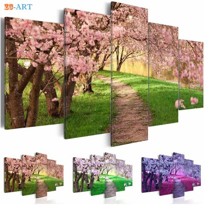 Cherry Tree Prints Canvas Painting 5 Pieces Blush ZK