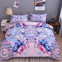 Colorful Flowers Duvet Cover Set Plant 1 ZN