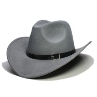 Country Cowboy Western Leather Band Hat LI