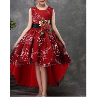 Daily Floral Christmas Half Sleeve Sleeveless Dress 1 LX
