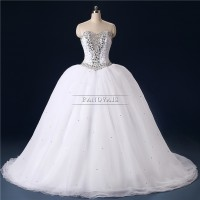 Dubai Wedding Dress Ball Gown long trajes de novia IB