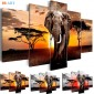 Elephants Print Poster Canvas Art ZK