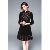 Exquisite Embroidery Velvet AT