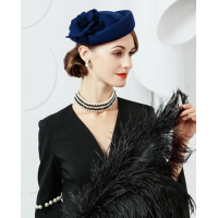 Fascinators For Women Elegant Wool Felt FS