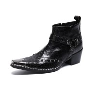 Fashion British Rivets Men Ankle Boots E3
