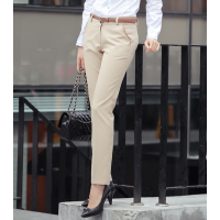For Women Office Work Wear Trousers Black Khaki SR