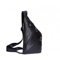 Genuine Leather Sling Chest Bag Shoulder Crossbody CY