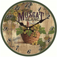 Grape Saat Decor Kitchen Fruit Watch Wall 2 WM