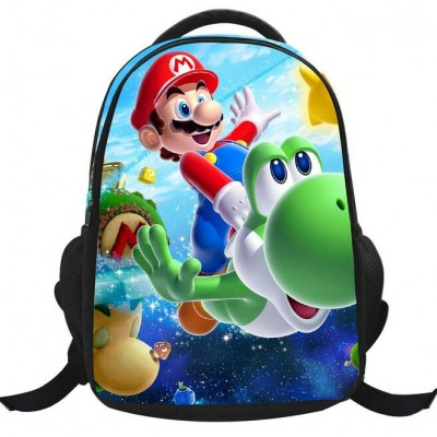 High Quality Canvas Mario School Bags 3 FG