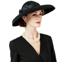 Large Brim Wedding Hats For Women Vintage FS