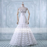 Latest Organza Elegant Organza and Satin Wedding Dress IB