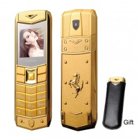 Luxury Metal Body Car Logo Dual Sim Mobile ME