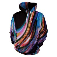 Oil Painting 3D Printed Women Hooded NO