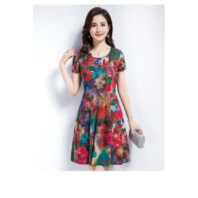Mother Elegant Short Sleeve sundress 8 HI