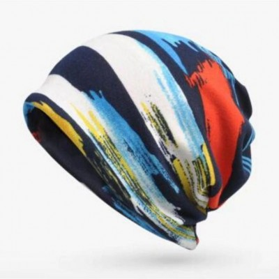 Plus Velvet Warm Stripe Skullies Beanies Hat 1 SM