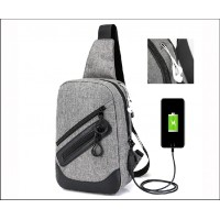 USB Charging Men Chest Bags Pack Theftproof CY