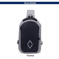 USB Charging Multifunction Chest Bag Men CY