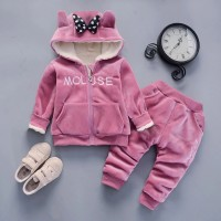 Warm Baby Girls Clothing Set Winter Thick 2 EF