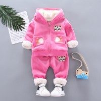 Warm Baby Girls Clothing Set Winter Thick 4 EF