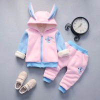 Warm Baby Girls Clothing Set Winter Thick 7 EF