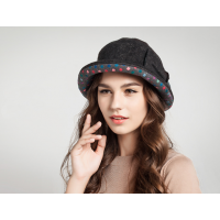 Warm Foldable Ladies Short Brim With Polka FS
