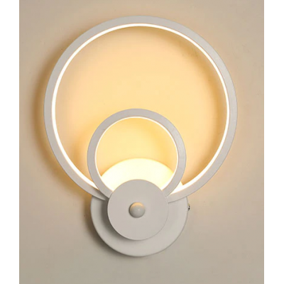 White Sconce Led Wall Lamp Creative Light Fixture 3 SN