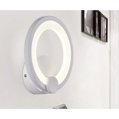 White Sconce Led Wall Lamp Creative Light Fixture 5 SN