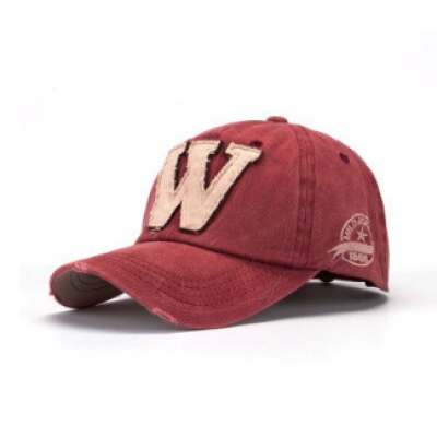 cotton letter W Baseball Cap retro outdoor SM