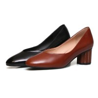 genuine leather shoes women solid colors spring MA